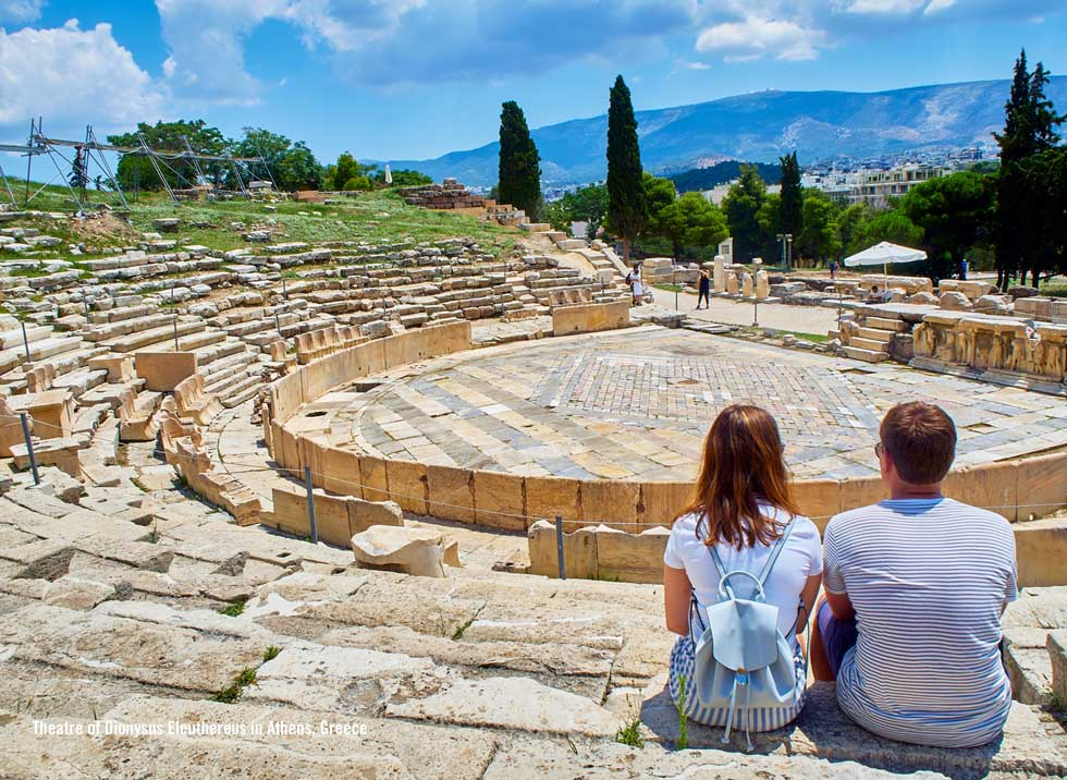 Theater of Dionysus Athens Greece at Acropolis