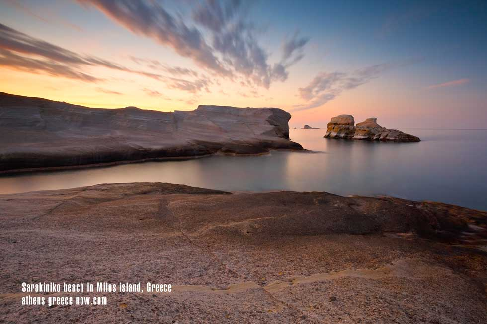 Sunset over Milos