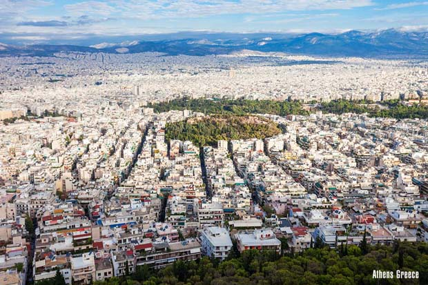 Athens Greece Aerial View