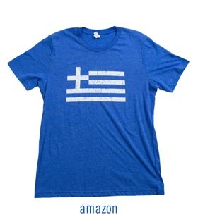 Greek Flag T Shirt Men and Women