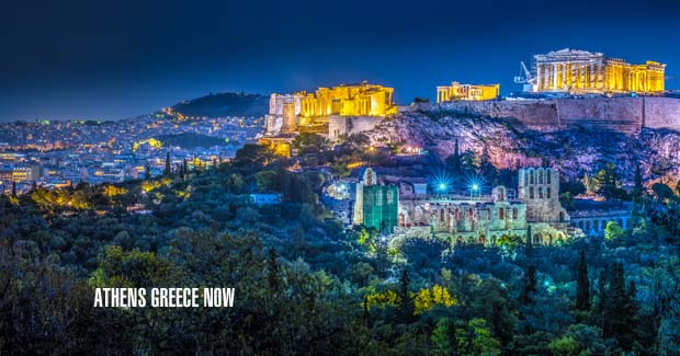 Acropolis Night Time Blue Hour
