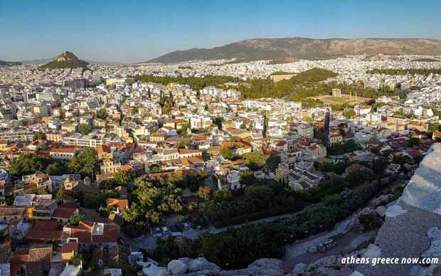 View of Lycabettus in Athens Greece