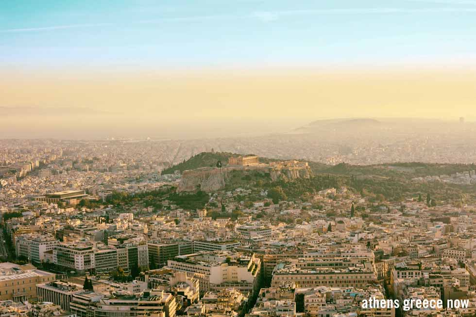 View of Athens, Acropolis and Pireaus
