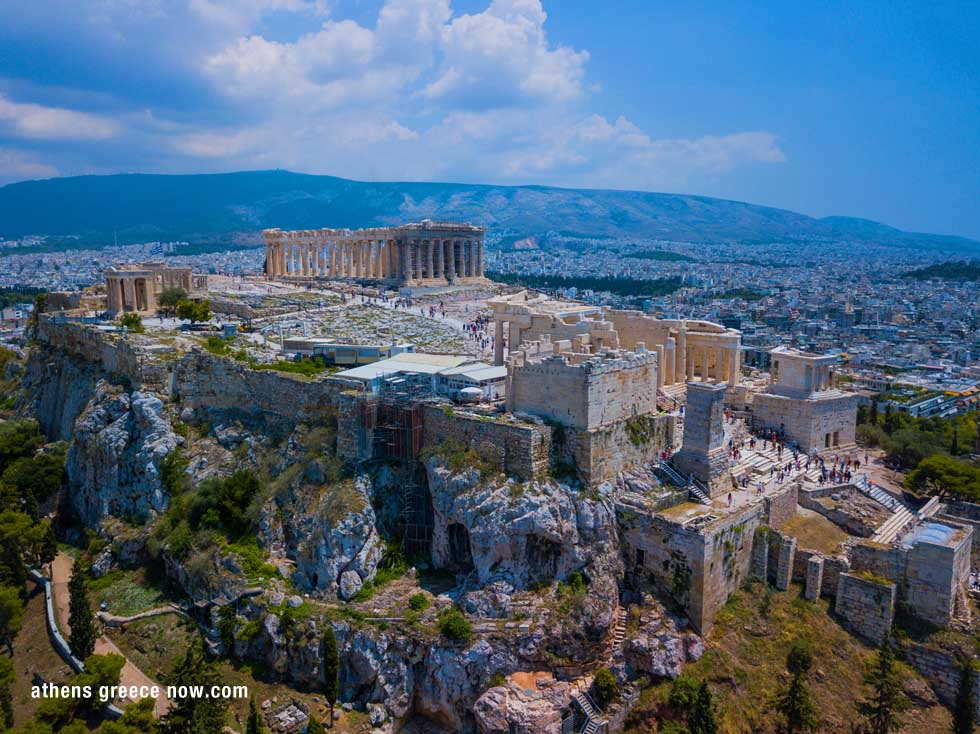 Acropolis Aerial Photo Parthenon Athens Greece