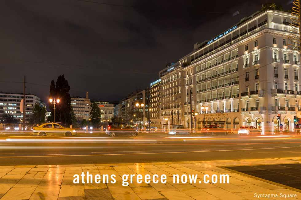 At night on Syntagma Square