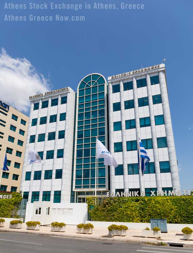 Athens Stock Exchange in Greece