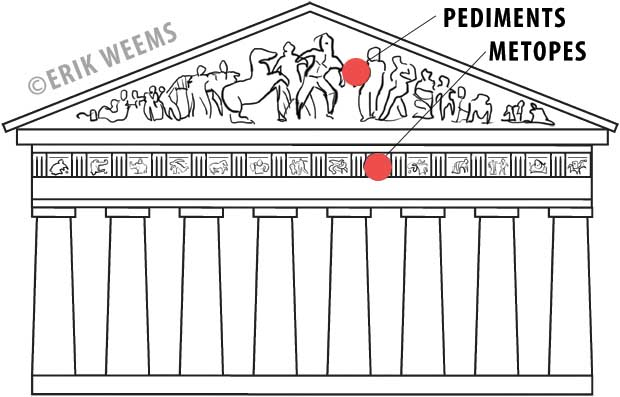 Pediments and Metopes - Parthenon
