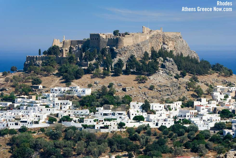 Rhodes Fortress castle Lindos - Greece
