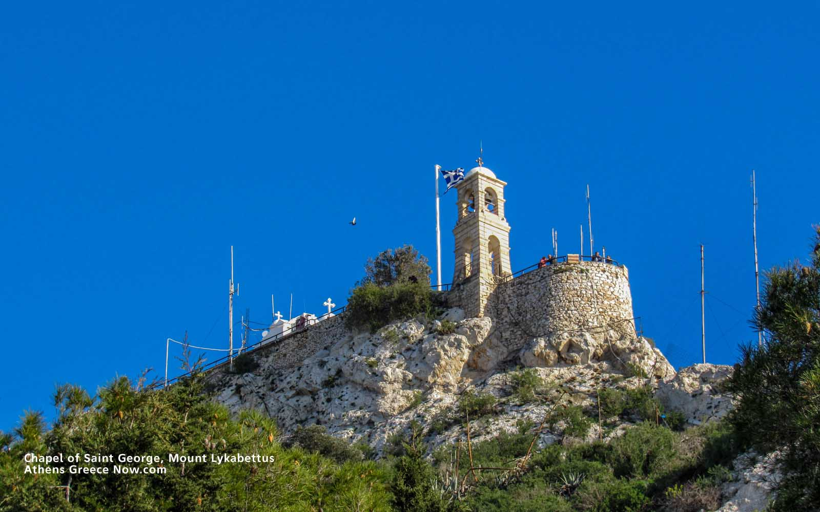 Enlarged - Chapel of Saint George on Mount Lycabettus in Athens Greece