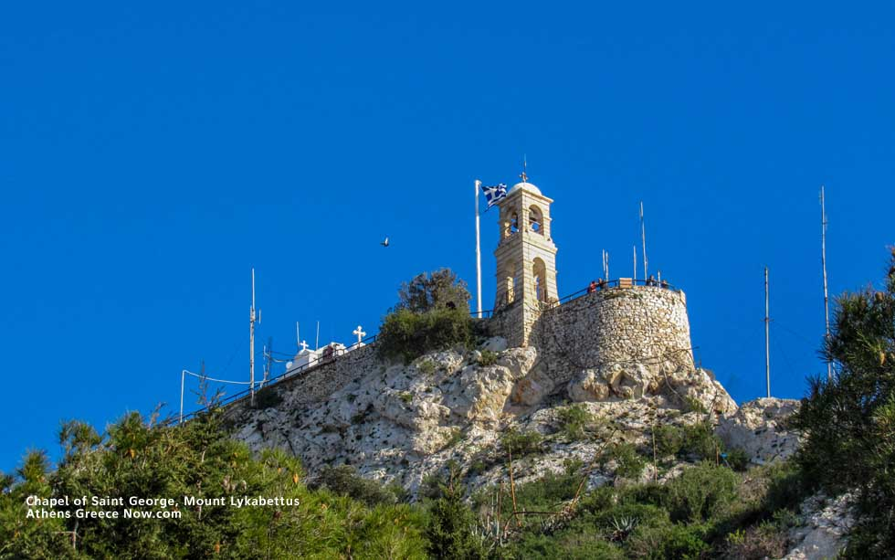 Chapel of Saint George on Mount Lycabettus in Athens Greece