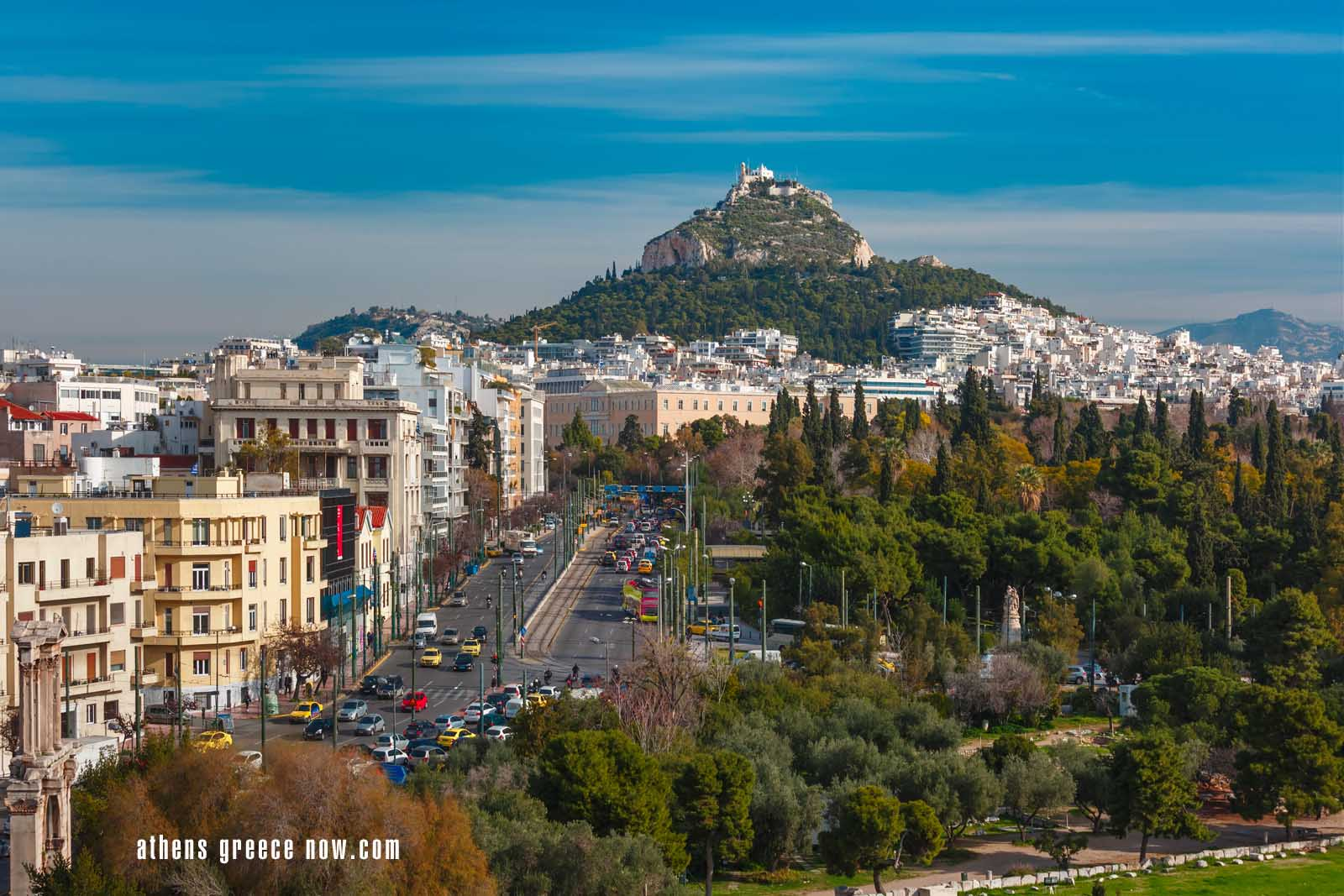 Enlarged - Lycabettus Mount in Athens Greece