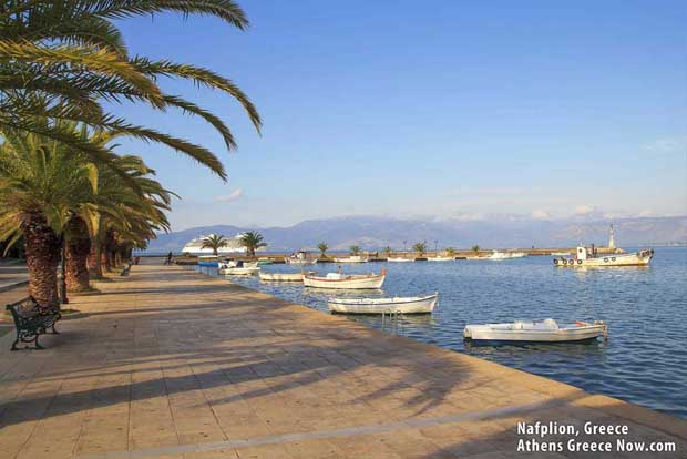 Naplion Port in Greece, Peloponnese