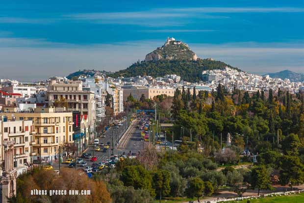 Lycabettus Mount in Athens Greece