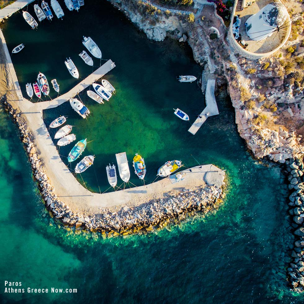 Paros from the sky