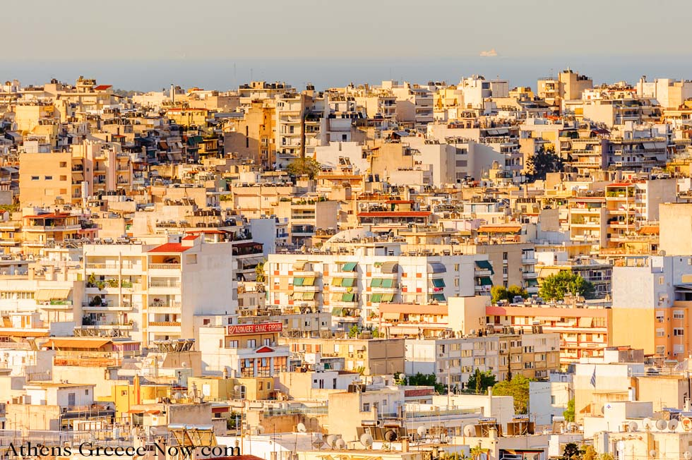 Landscape of Buildings in Athens Greece