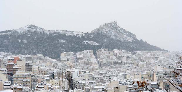 Athens and Snow