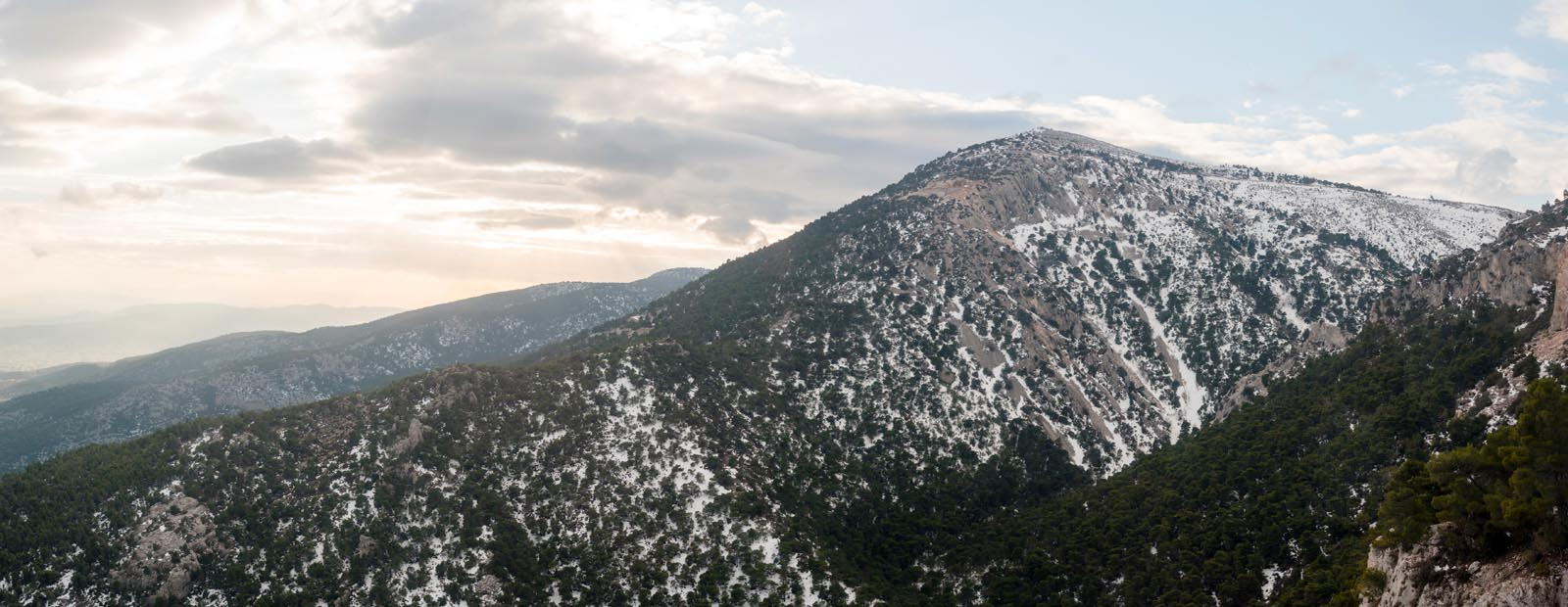 Enlarged - Mount Parnitha with Snow - Greece