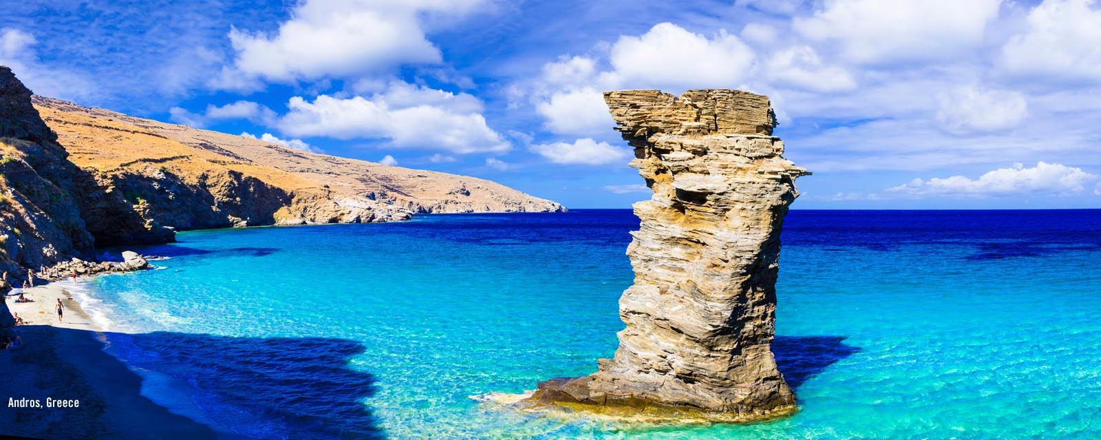 Larger image - Andros Island Beach Greece