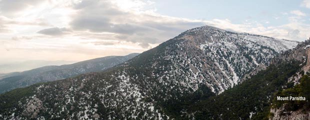 Mount Parnitha in Snow - Greece