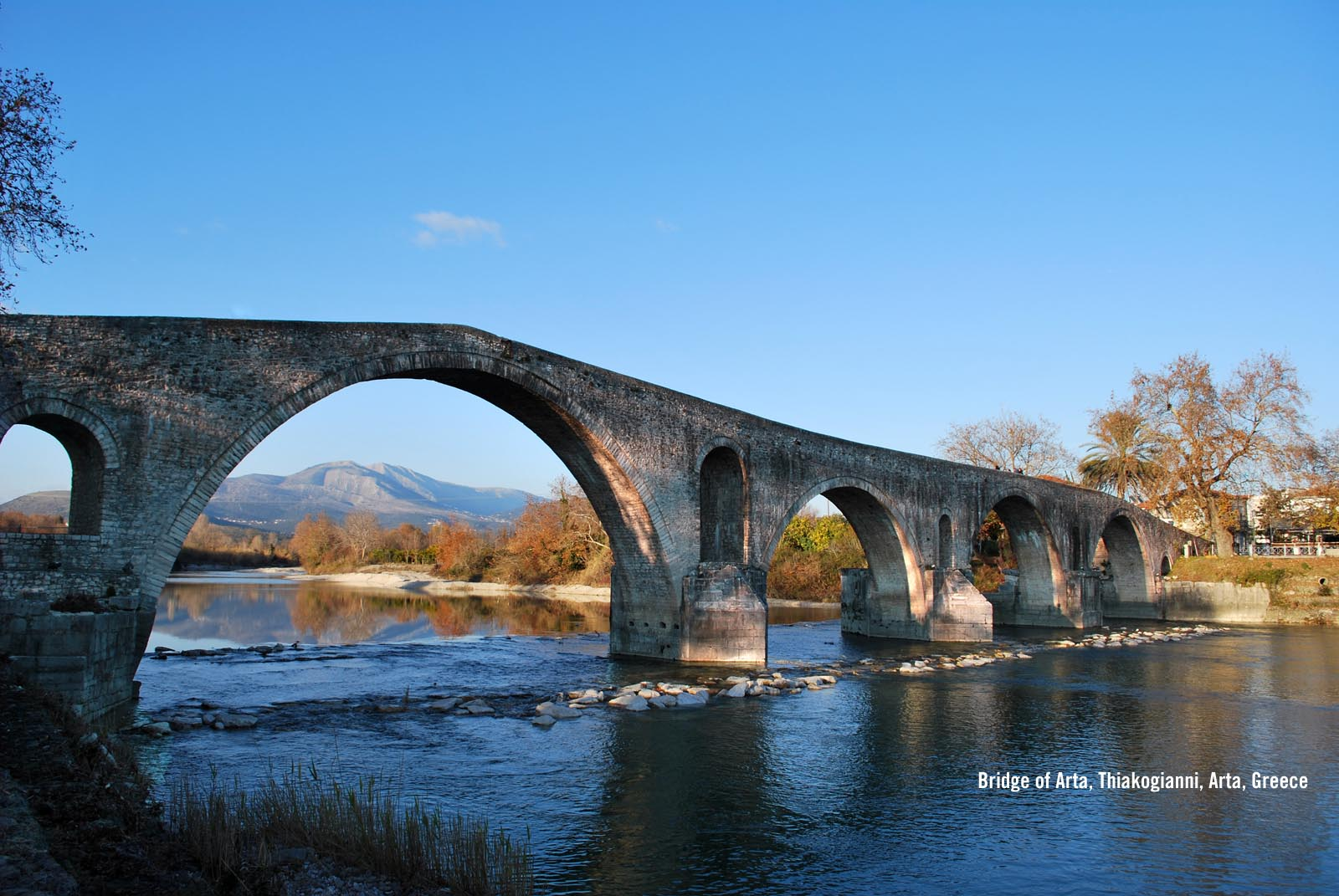 Enlarged - - Arta Bridge in Thiakogianni Greece