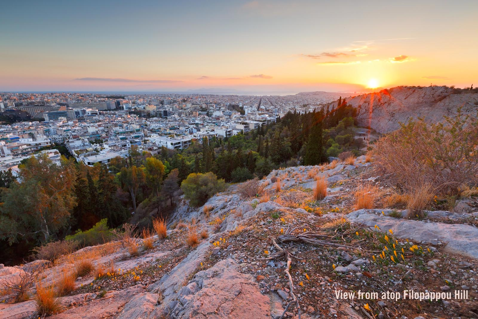 Enlarged photo: Filopappou Hill in Athens Greece