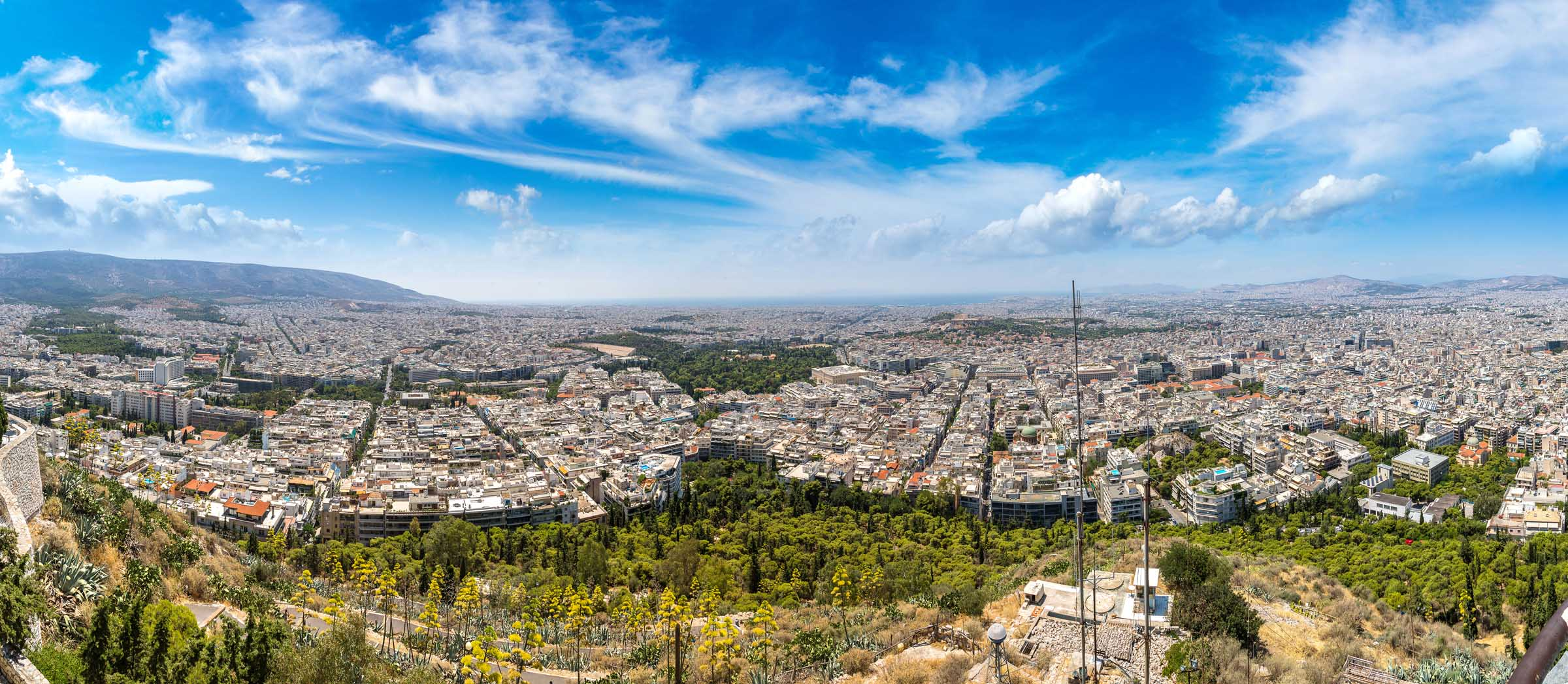 Large panoramic of Athens Greece