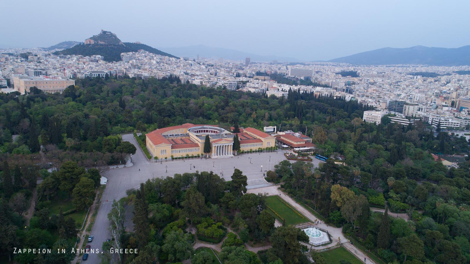 Enlarged - Zappeion in Athens, Greece