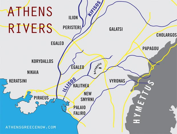 Athens Greece Illisos and Kifisos Rivers