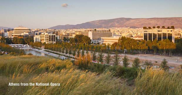 Athens from the National Opera