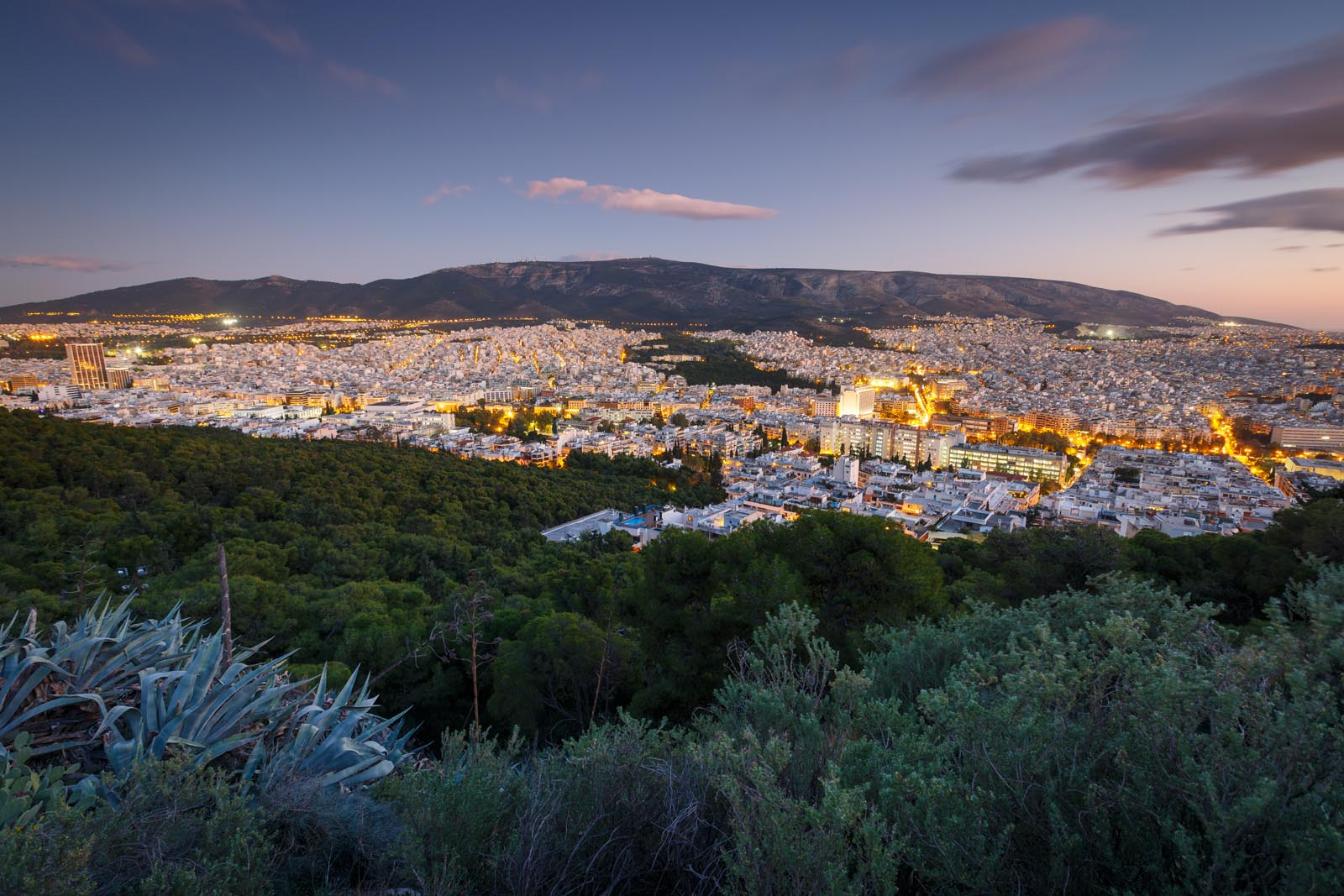 Enlarged - Evening view of Athens from Lycabettus Athens Greece