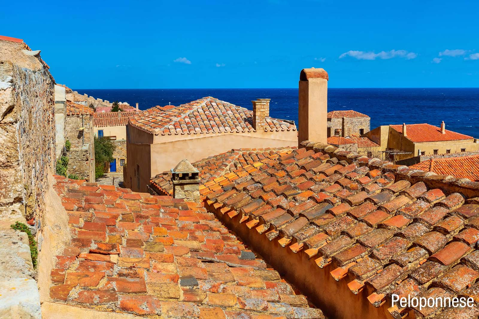 Enlarged - Rooftops of the Peloponnese Greece