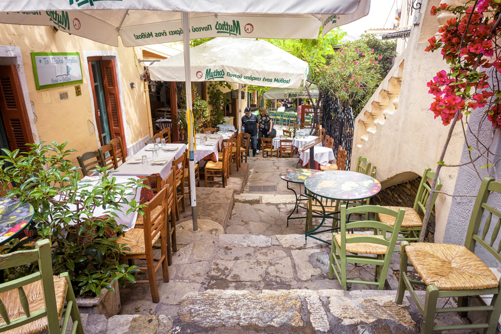 Cafe Plaka Athens Greece