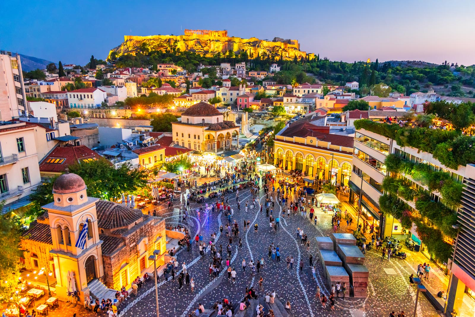 Enlarged - Monastiraki in Athens Greece