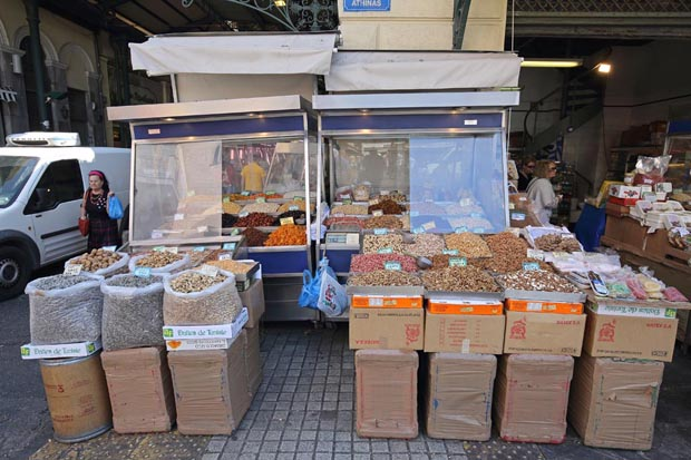 Selling nuts in Athens