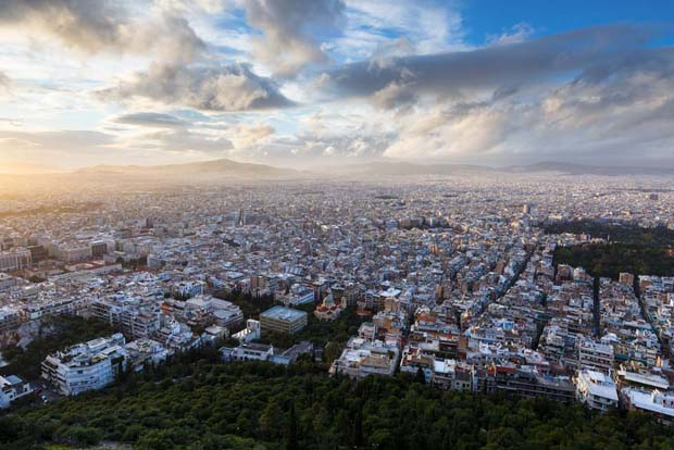 Lycabettus view of Athens Greece