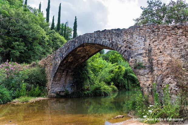 traditional stone bridge in Peloponnese