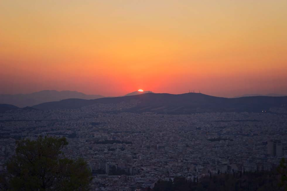 Sunrise Athens Greece
