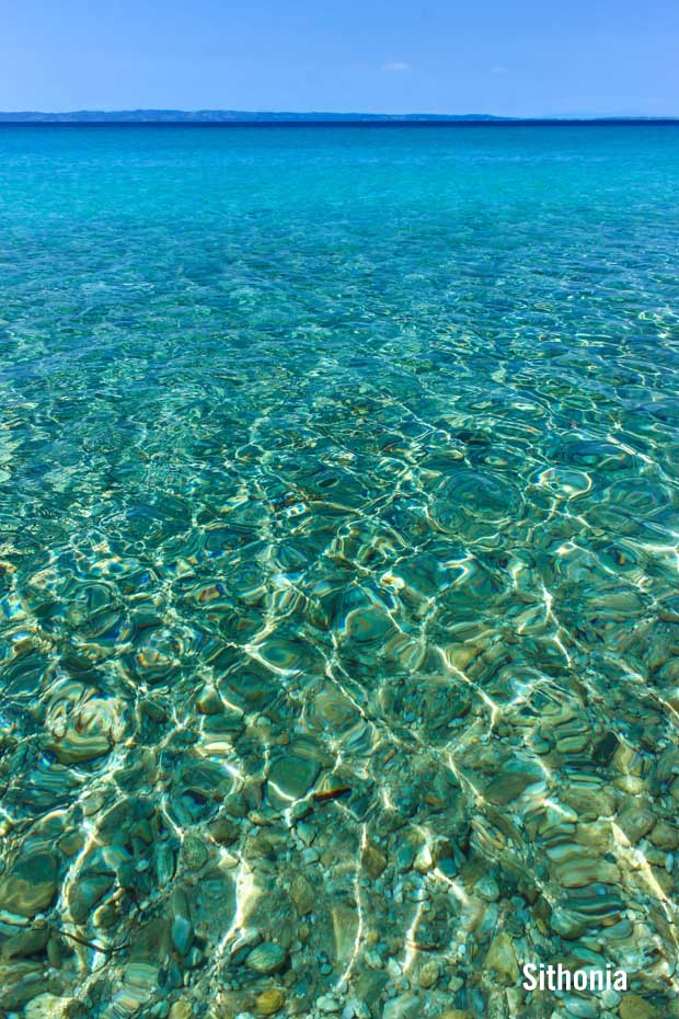 Waters in Sithonia Greece