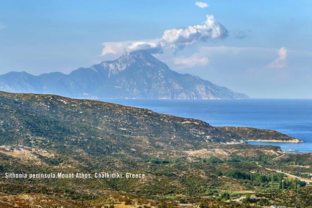 Sithonia and Mount Athos in Greece