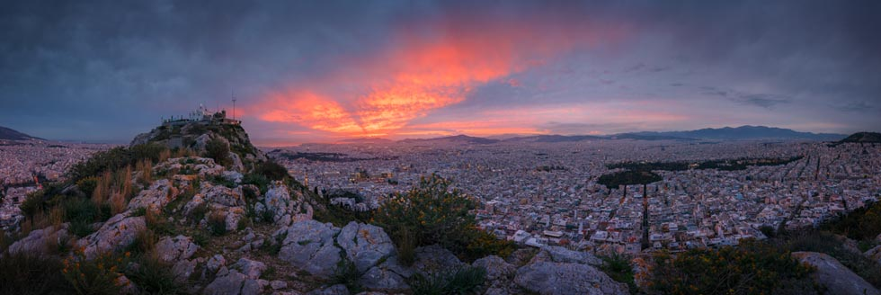 Sunset and Lycabettus