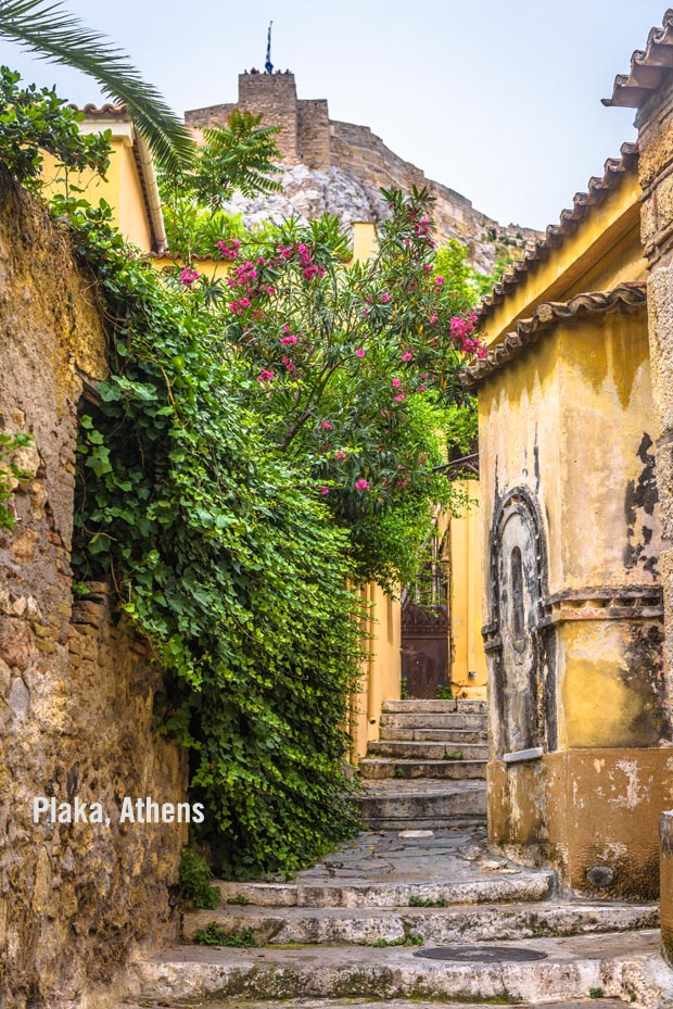 The Plaka Walkway near Acropolis in Athens
