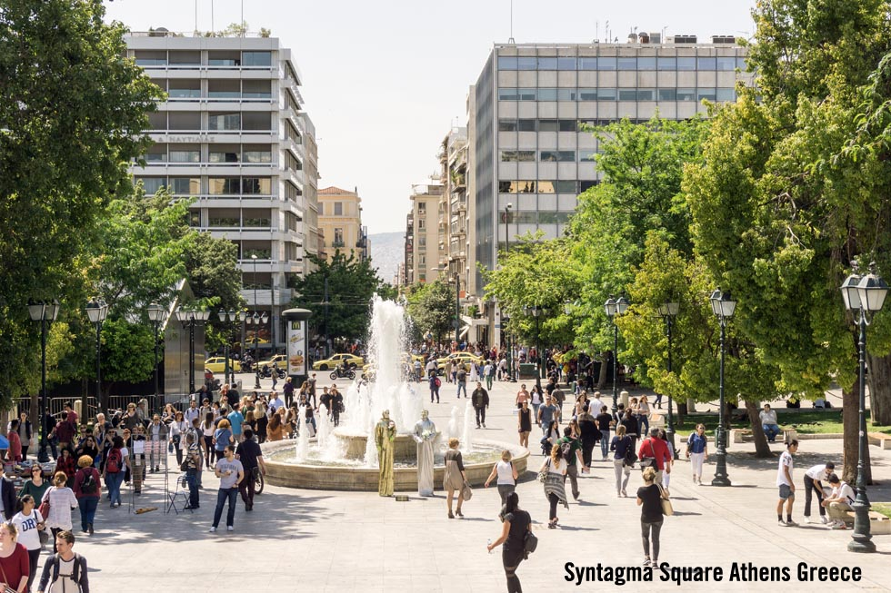 Enlarged photo - Syntagma Square Athens Greece