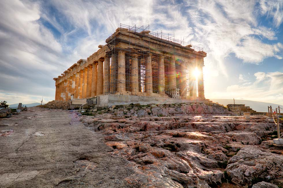 Parthenon on the Acropolis in Athens Greece