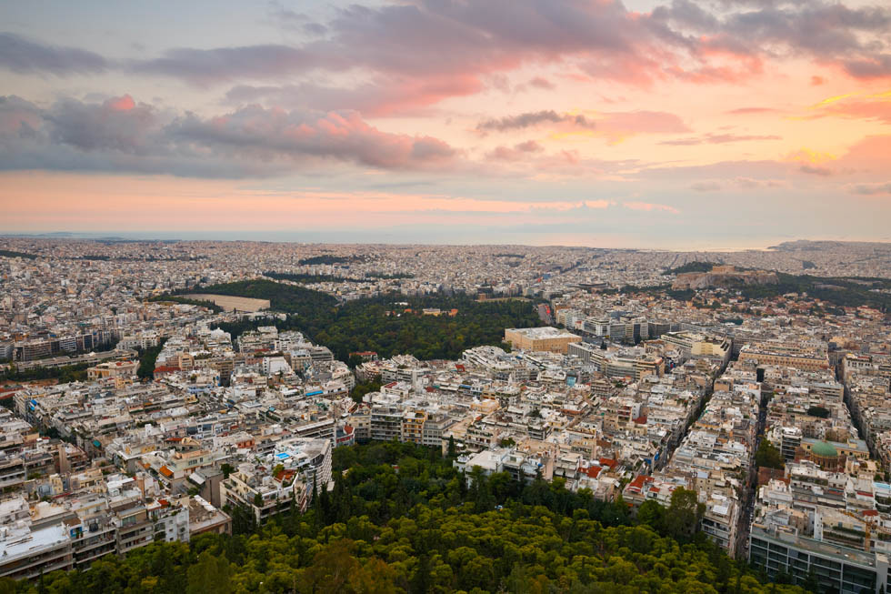 Lycabettus Hill in Athens Greece