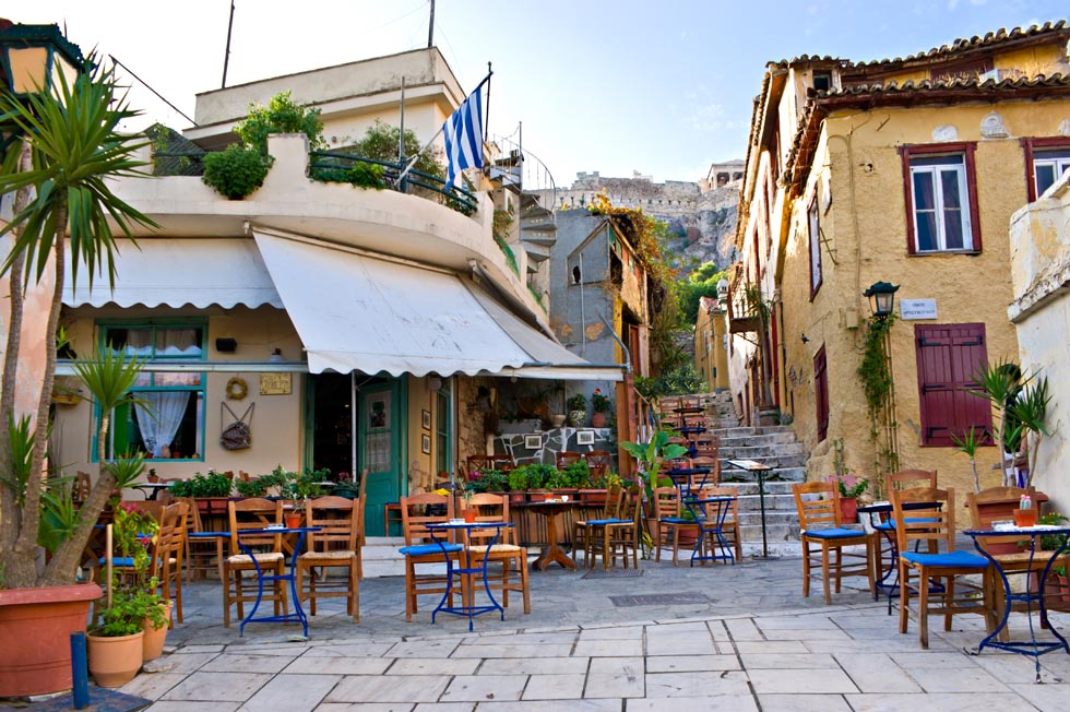 Plaka below Acropolis