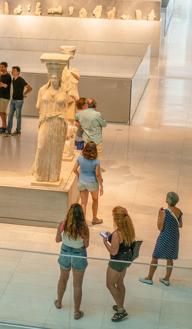 Inside the Parthenon Acropolis Museum in Athens