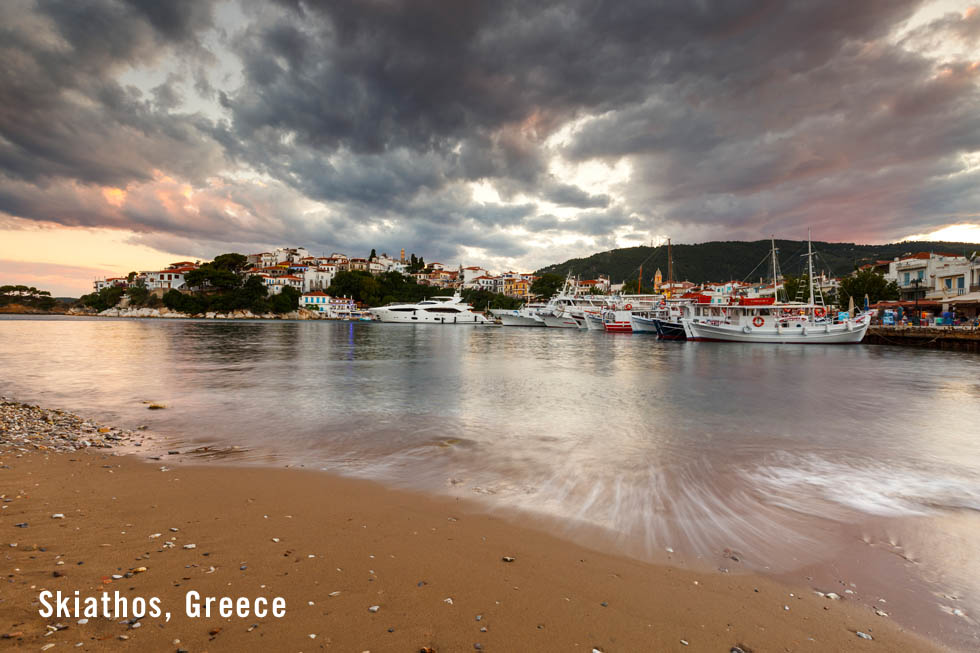Skiathos Harbor - Boats and Water in the Aegean