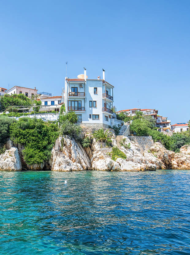 Water edge of Skiathos