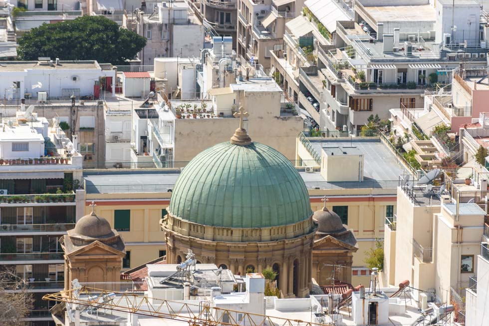 Church Dome Athens Greece