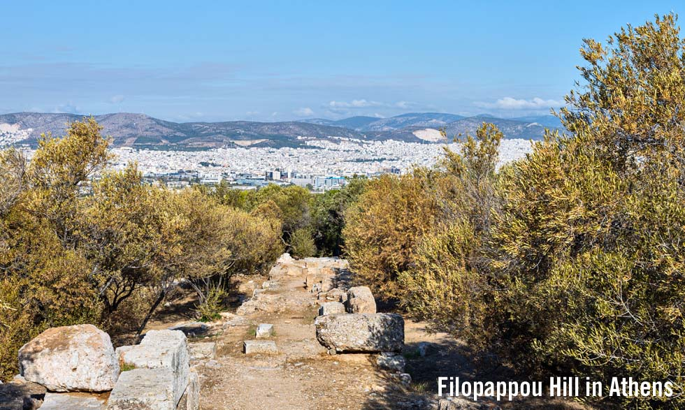 Filopappou Hill in Athens